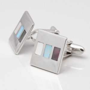Sterling Silver Mother of Pearl & Abalone Cufflinks