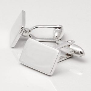 Sterling Silver Oblong Cufflinks