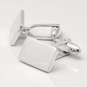 Sterling Silver Oblong Cufflinks