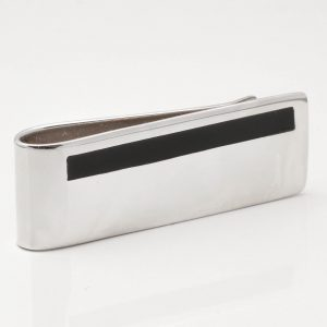 Sterling Silver Onyx Money Clip