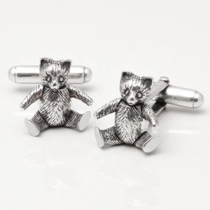 Sterling Silver Teddy Bear Cufflinks