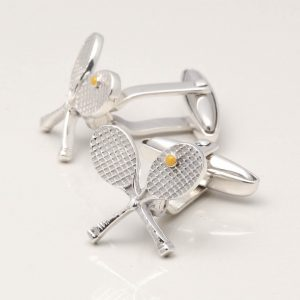 Sterling Silver Tennis Cufflinks