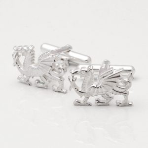 Sterling Silver Welsh Dragon Cufflinks