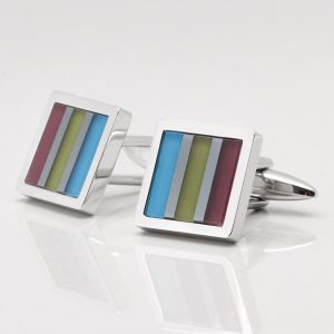 Striped Cats Eye Cufflinks