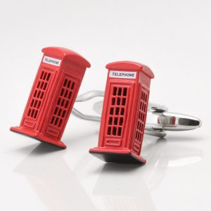 Telephone Box Cufflinks