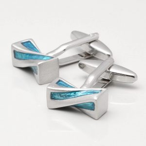 Turquoise Twist Cufflinks
