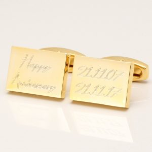 Engraved Happy Anniversary Cufflinks