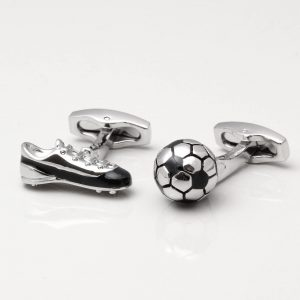 Football Boot & Ball Cufflinks
