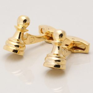 Gold Pawn Chess Cufflinks