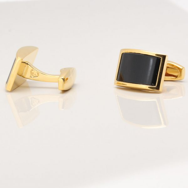Gold Plated Onyx Cufflinks Gallery