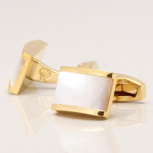 Gold Plated Pearl Cufflinks