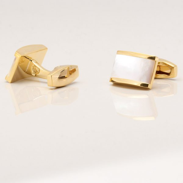 Gold Plated Pearl Cufflinks Gallery