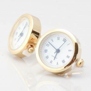 Gold Real Working Clock Cufflinks