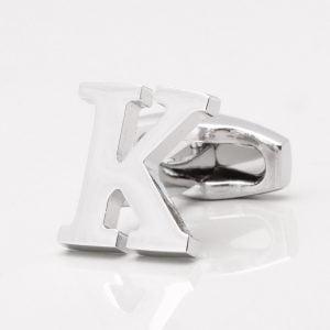 Letter K Cufflink
