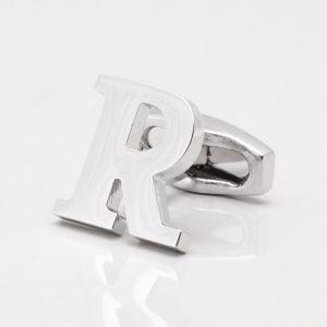 Letter R Cufflink