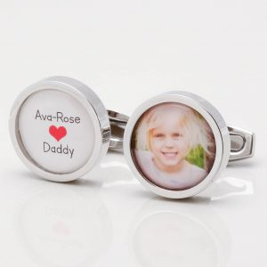 Love Daddy Photo Cufflinks