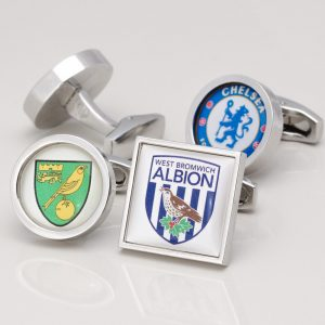 PERSONALISED FOOTBALL CLUB EMBLEM CUFFLINKS