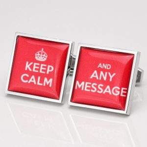 PERSONALISED KEEP CALM CUFFLINKS