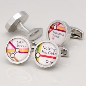 PERSONALISED LONDON UNDERGROUND CUFFLINKS
