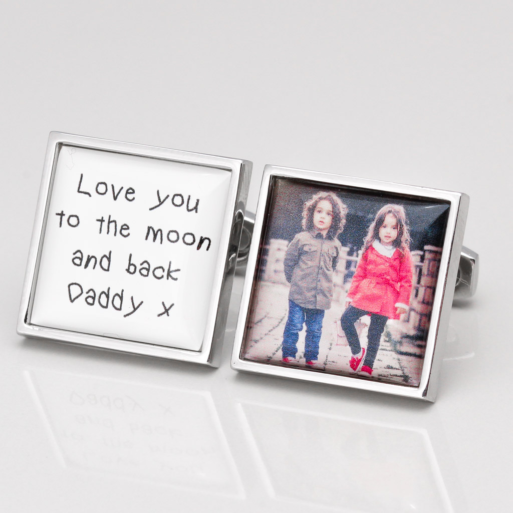 PERSONALISED LOVE DADDY TO THE MOON & BACK CUFFLINKS
