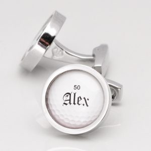 PERSONALISED NAME & AGE GOLF BALL CUFFLINKS