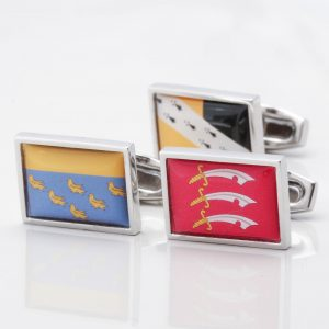 Personalised County Flag Cufflinks