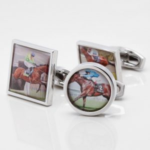 Personalised Horse Racing Cufflinks
