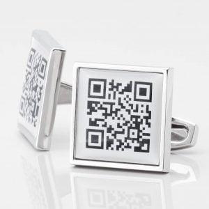 Personalised QR Code Cufflinks