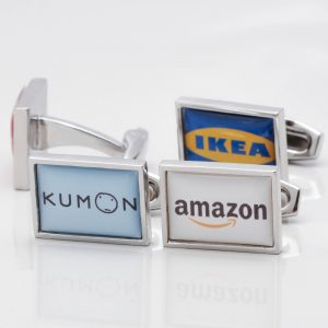 Rectangular Logo Cufflinks