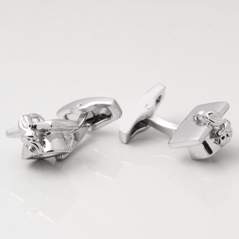 Silver Mortar Board Cufflinks