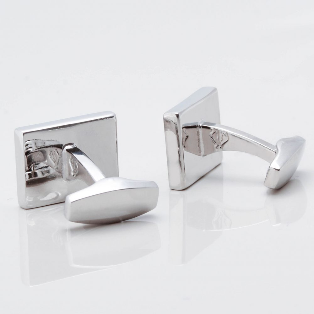 Silver Suble Engraved Initial Cufflinks Gallery