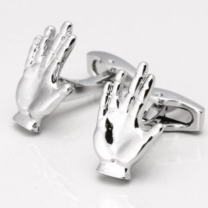 STAR TREK VULCAN SALUTE CUFFLINKS