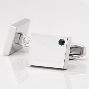 Birthstone Emerald Cufflinks