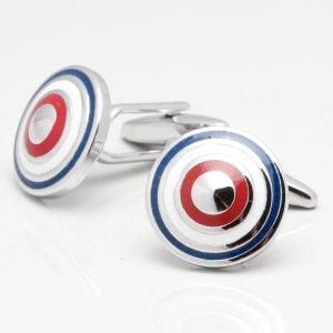 Circular Target Design Cufflinks
