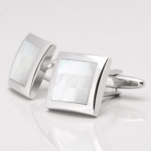 Mother of Pearl 9 Squared Cufflinks