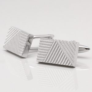 Rectangular Textured Cufflinks