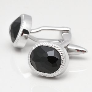 Faceted Onyx Cufflinks