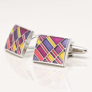 Multi Colour Epoxy Segment Cufflinks