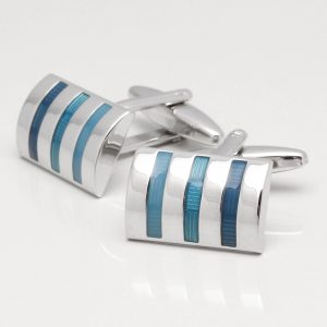 Three Tone Blue Cufflinks