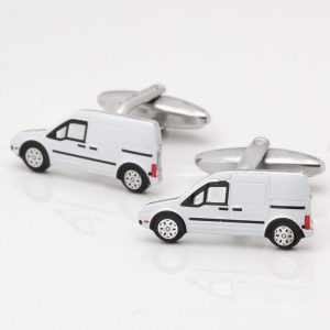 WHITE VAN CUFFLINKS