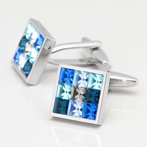 Blue Toned Crystal Cufflinks
