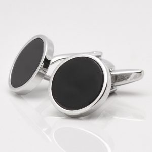 Circular Onyx Cufflinks