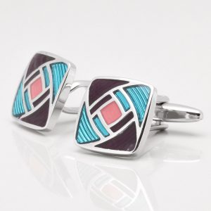 Geometric Colour Design Cufflinks