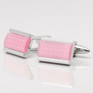Light Pink Cats Eye Cufflinks