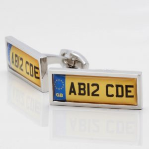 Personalised Car Registration Cufflinks