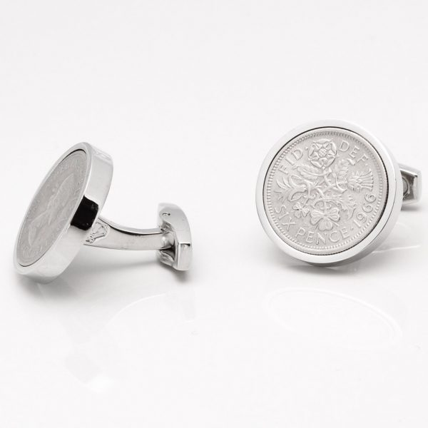 Personalised Silver Sixpence Cufflinks Gallery
