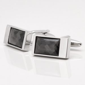 Rectangle Carbon Fibre Cufflinks