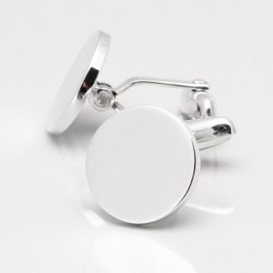 Sterling Silver Circle Cufflinks