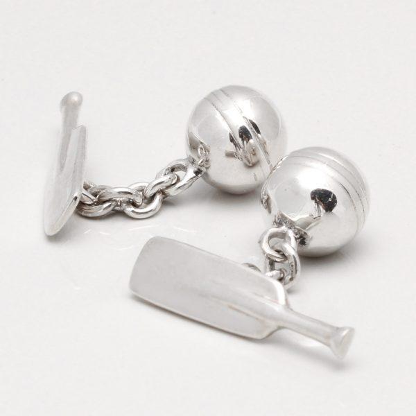 Sterling Silver Cricket Bat & Ball Cufflinks