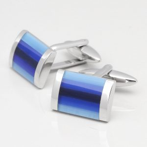 Tonal Blue Cat Eye Cufflinks